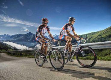 Fahrrad fahren in den Bergen