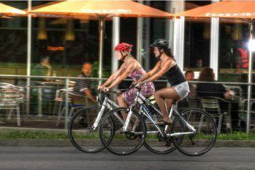 Fahrrad fahren in der Stadt